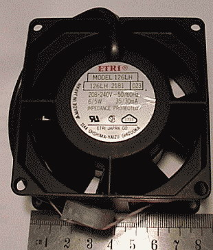 Quiet, cast alloy ETRI 240 Volt Fans with 2 pin plug